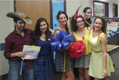 Our great Amity interns for Colombian Cultural Week