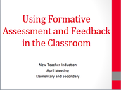 Formative Assessment and Feedback
