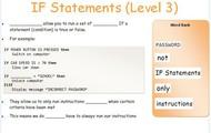 If Statements Level 3