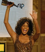 Whitney Houston after winning an Emmy Award