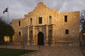 The outside of the Alamo