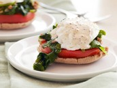 Kale and Tomato Egg Benedict