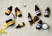 Natural aromatherapy and spa products