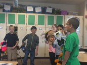 Tristan, Leo, Marissa, Gerardo, Samantha, and TJ acting out the lessons they learned in B.A.B.E.S.