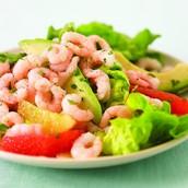 ensalada de camarón