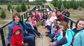 Mrs. Bowen enjoying a hayride with some of her favorite people