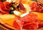 cereales , carnes  y quesos curados