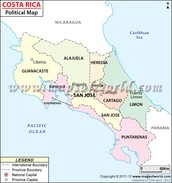Political Map of Costa Rica