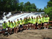 Freshmen at High Falls Park