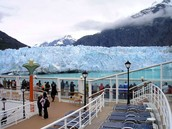 This is the sight seeing ramp for the Margerie Glacier