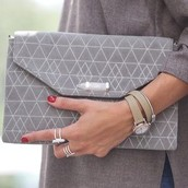City Slim Metallic clutch