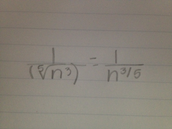 Radical Form In A Fraction To Rational  Exponents