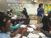 Ms. Johnson at Cuellar Elementary