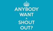 Shout Out Corner
