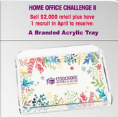 Congratulations on earning Home Office Challenge 2 ~ Branded Acrylic Tray!