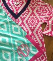Aqua and Pink Tunics