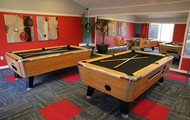 Hang out in the game room!