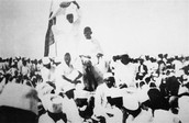 Gandhi speaking for the people