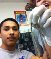 Maya and I in biology.