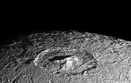 Upclose of the moon Dione