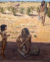 What did the Tigua tribe eat? How was their food obtained?