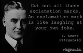 F. Scott on exclamation marks!