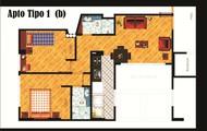 Apartamento tipo 1 opcion 1