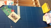 Cubbies, bins and artwork