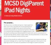 Parent iPad Nights