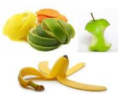 Cascaras y restos de frutas