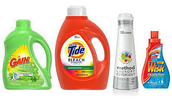 Different types of laundry products