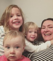 Auntie Beth with her blonde beauties