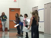 2nd Graders Sharing a New Year's Poem