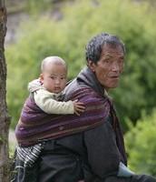 Elder with a child