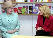 J.K. Rowling meeting with the Queen of England