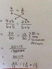 Using common denominators