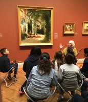 5th graders at the Art Institute