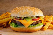 My favorite food is a Cheeseburger with Frenchfries