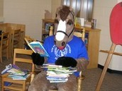 PAL loves to read too!