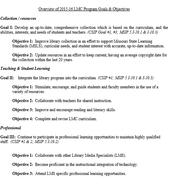 Library Media Program Evaluation