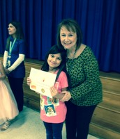 Second grade student- Dalila Fernandez with Ms. Collier.