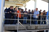 Freshman Visit the Waste Water Plant