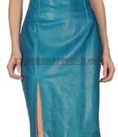 Buy Amazing Front Slit OnlineLamb Leather Skirt for Women