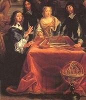Renee Descartes with the Queen