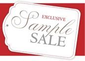 Huge January Sample Sale