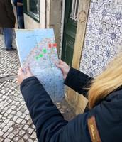 Met een kaart