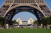 parabola under Eiffel tower