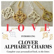Our exclusive clover initial designs