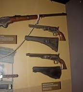 Weapons found on Booth when he was caught
