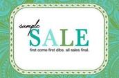 My biggest sample sale ever! Bag a bargain before I change my mind!